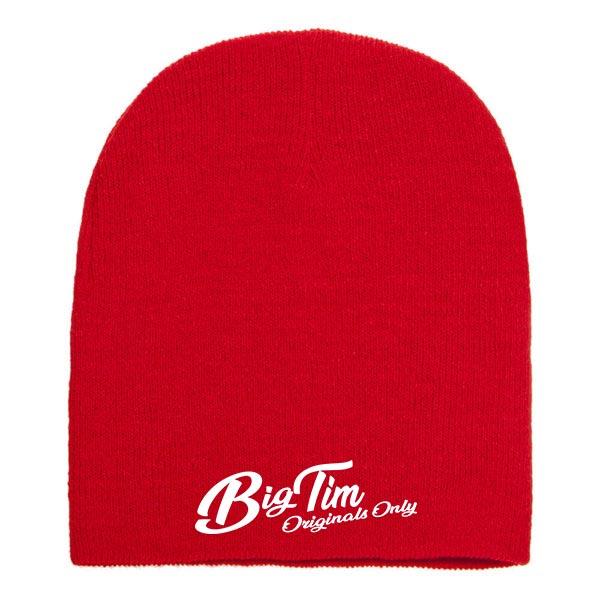 Blank knit beanie cap red 600x600 copy