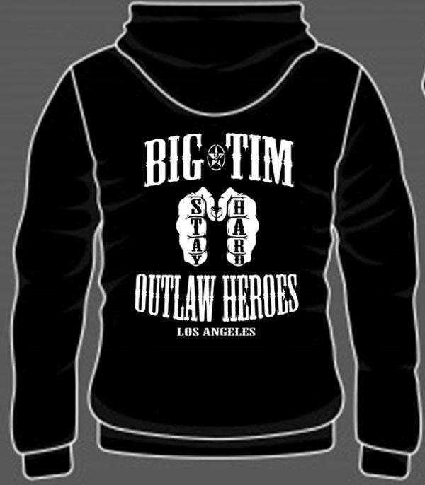 Hoodie Outlaw Back Black